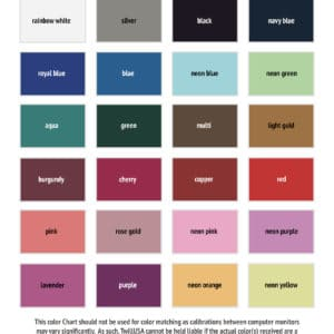 TwillUSA HTV Glitter Color Chart