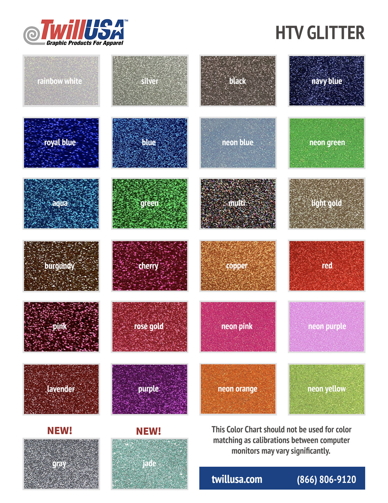 Image of Twill USA HTV Glitter