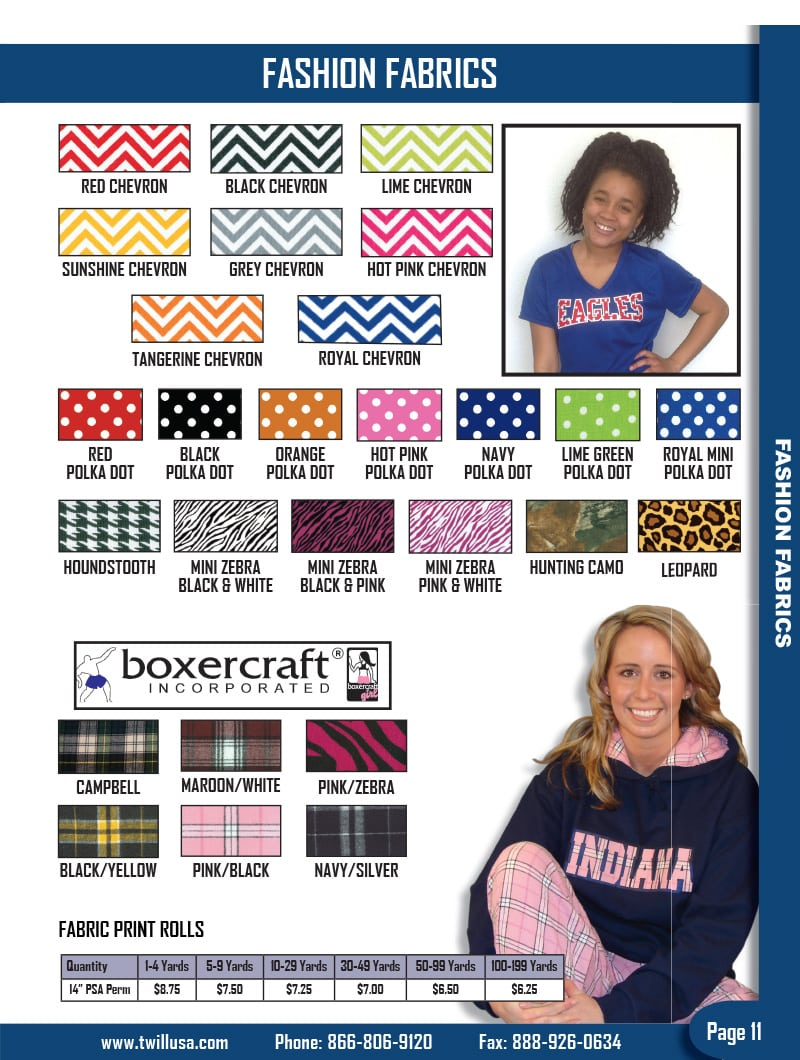 Image of TwillUSA Catalog Page 11 -- Fashion Fabrics