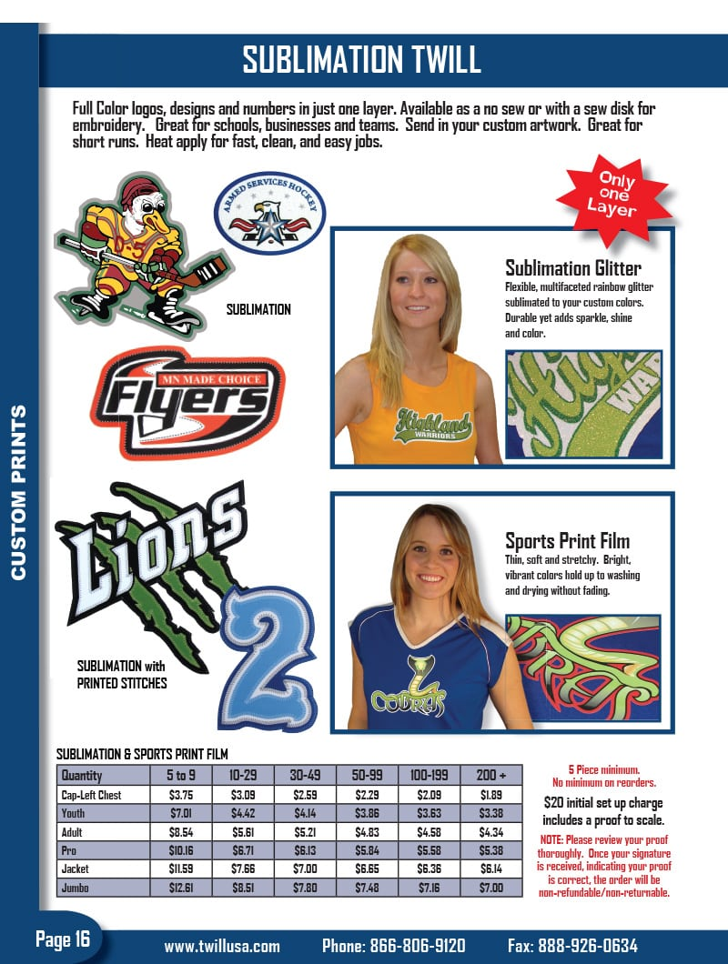 Image of TwillUSA Catalog Page 16 -- Sublimation Twill