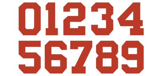 Image of Bold Block Numbers Typography Example
