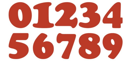 Image of Cooper Numbers Typography Example