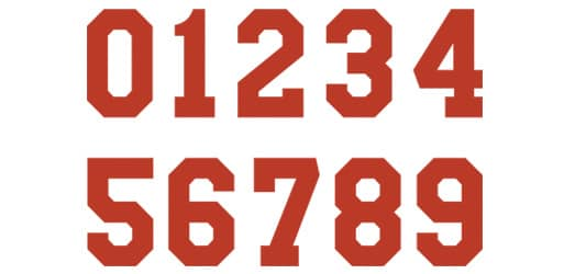 Full Block Font Type for Numbers