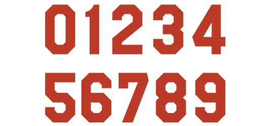 Plain Block Font Type for Numbers