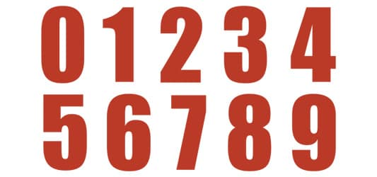 Image of USA Numbers Typography Example