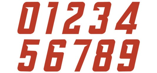 Image of Wedge Numbers Typography Example