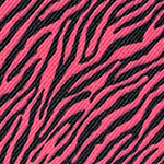 Image of TwillUSA Mini Zebra Black and Pink Fashion Fabric Color Square