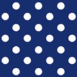 Image of TwillUSA Navy Polka Dot Fashion Fabric Color Square