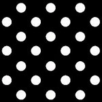 Image of TwillUSA Black Polka Dot Fashion Fabric Color Square