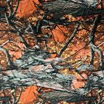 Image of TwillUSA Blazin Orange Camo Fashion Fabric Color Square