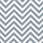 Image of TwillUSA Gray Chevron Fashion Fabric Color Square