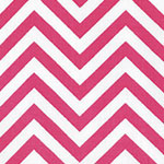 Image of Twill USA Hot Pink Chevron Fashion Fabric Color Square