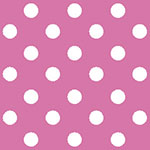 Image of TwillUSA Hot Pink Polka Dot Fashion Fabric Color Square