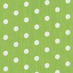 Image of Twill USA Lime Green Polka Dot Fashion Fabric Color Square