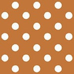 Image of TwillUSA Orange Polka Dot Fashion Fabric Color Square
