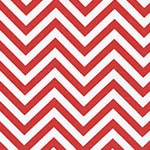 Image of TwillUSA Red Chevron Fashion Fabric Color Square