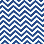 Image of TwillUSA Blue Chevron Fashion Fabric Color Square