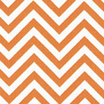 Image of TwillUSA Tangerine Chevron Fashion Fabric Color Square