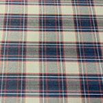Image of Blue Gray Plaid Fabric Color Square