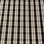 Image of Cream Black Plaid Fabric Color Square