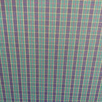 Image of Green Navy Plaid Fabric Color Square