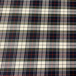Image of Navy White Plaid Fabric Color Square