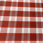 Image of Red White Plaid Fabric Color Square