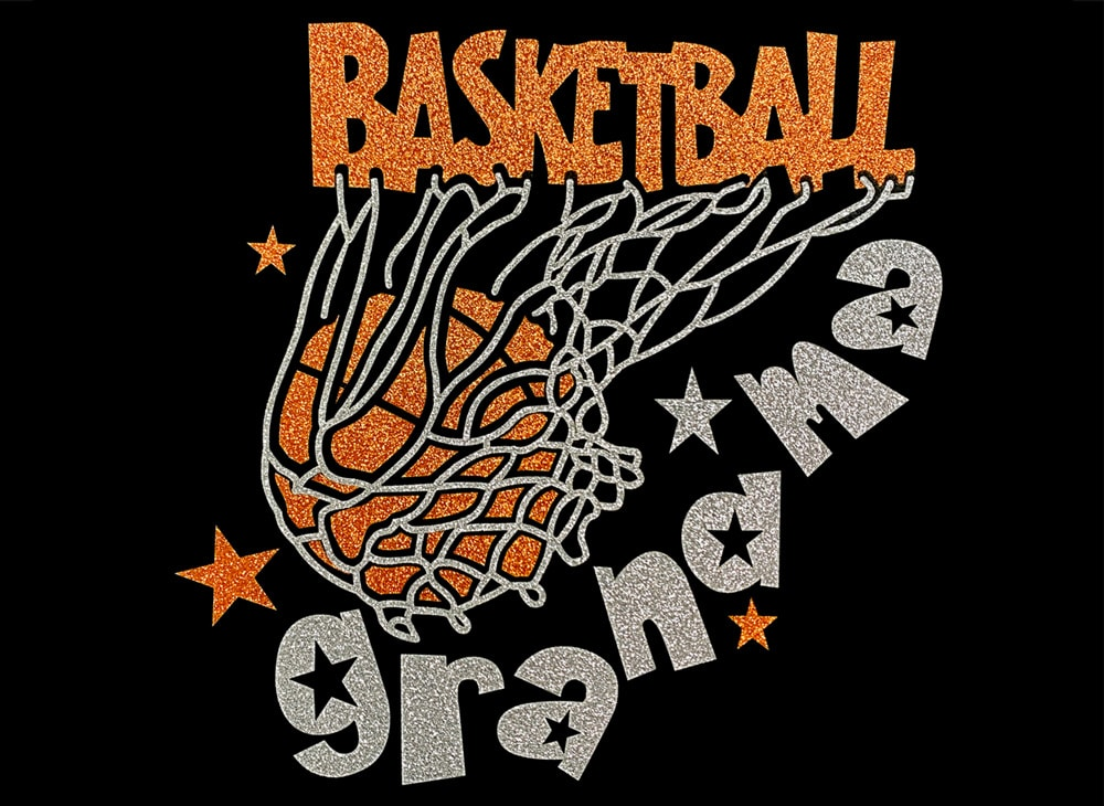 Image of Basketball Grandma HTV Glitter Design By TwillUSA