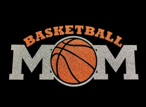 Image of Basketball Mom HTV Glitter Design By TwillUSA