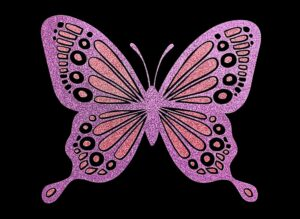 Image of Butterfly HTV Glitter Design By TwillUSA