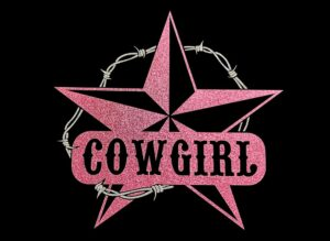 Image of Cowgirl HTV Glitter Design By TwillUSA