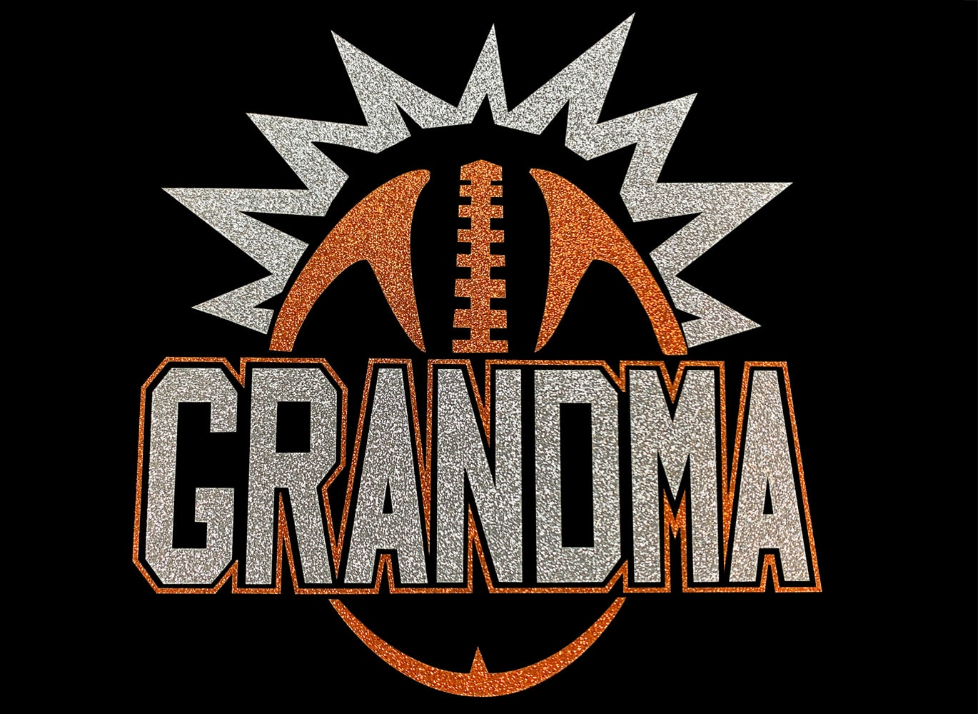 Image of Football Grandma HTV Glitter Design By TwillUSA