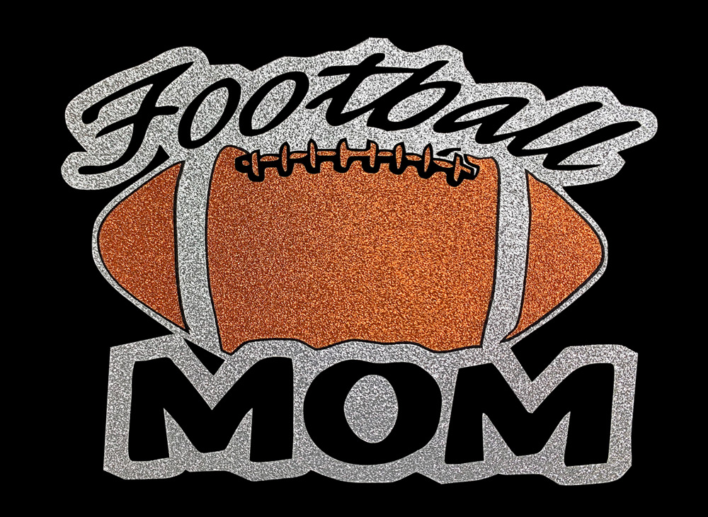 Image of Football Mom HTV Glitter Design By TwillUSA