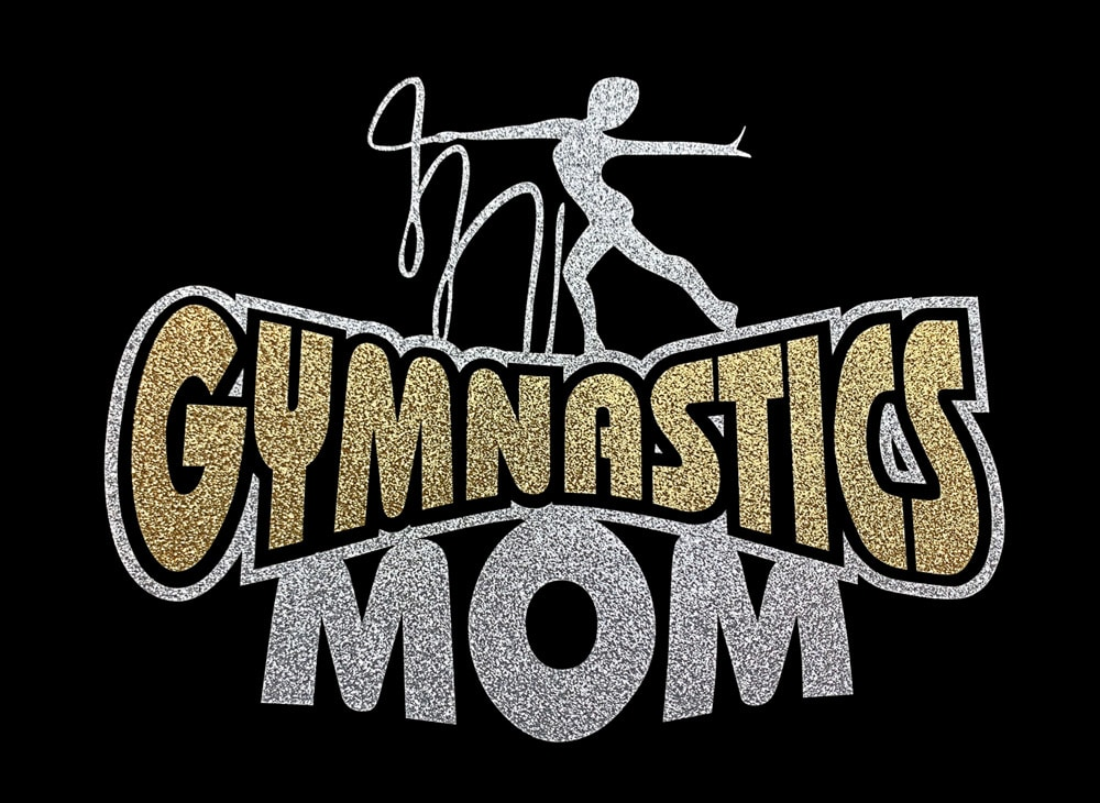 Image of Gymnastics Mom HTV Glitter Design By TwillUSA