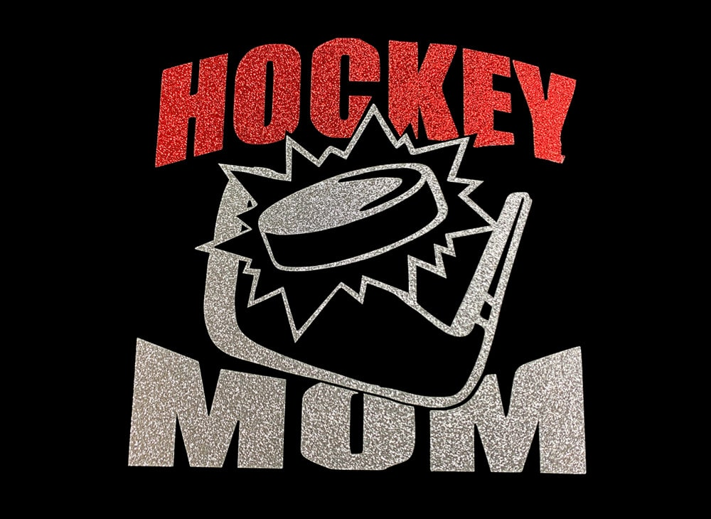 Image of Hockey Mom HTV Glitter Design By TwillUSA