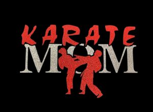 Image of Karate Mom HTV Glitter Design By TwillUSA