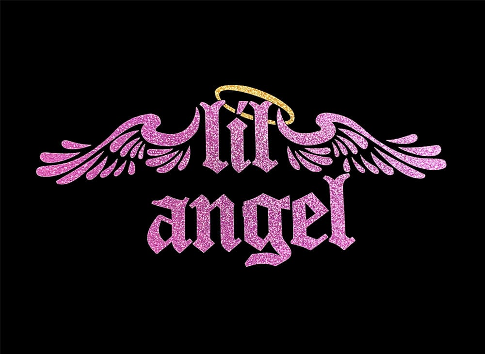 Image of Lil Angel HTV Glitter Design By TwillUSA