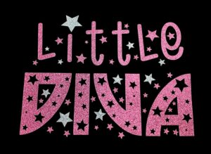 Image of Little Diva HTV Glitter Design By TwillUSA