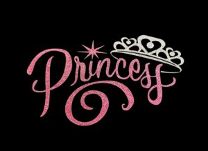 Image of Princess HTV Glitter Design By TwillUSA