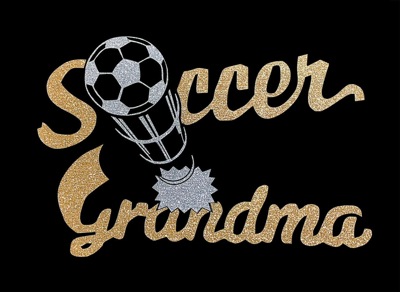 Image of Soccer Grandma HTV Glitter Design By TwillUSA