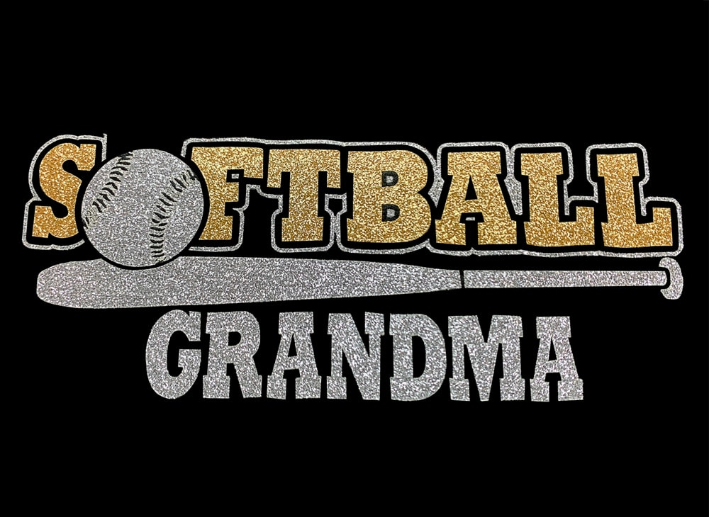 Image of Softball Grandma HTV Glitter Design By TwillUSA