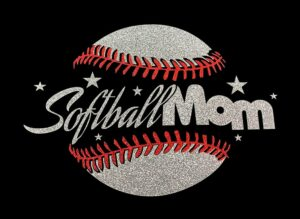 Image of Softball Mom HTV Glitter Design By TwillUSA