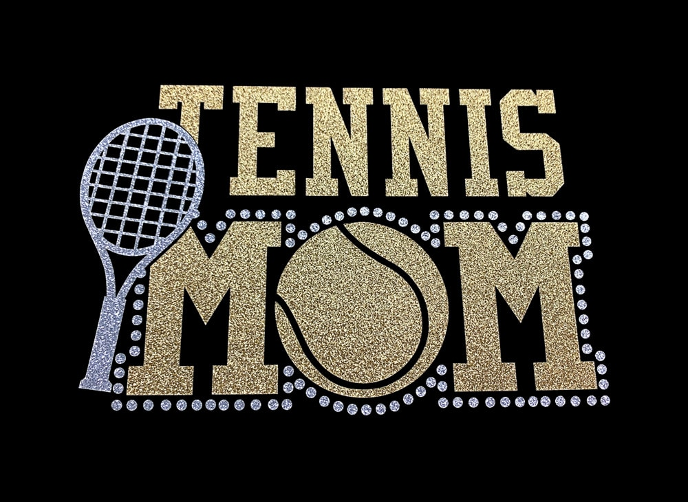 Image of Tennis Mom HTV Glitter Design By TwillUSA