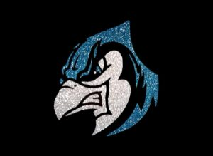 Image of Blue Jay PreCut HTV Glitter Design