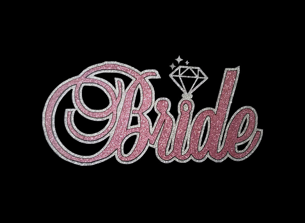 Image of Bride HTV Glitter Design