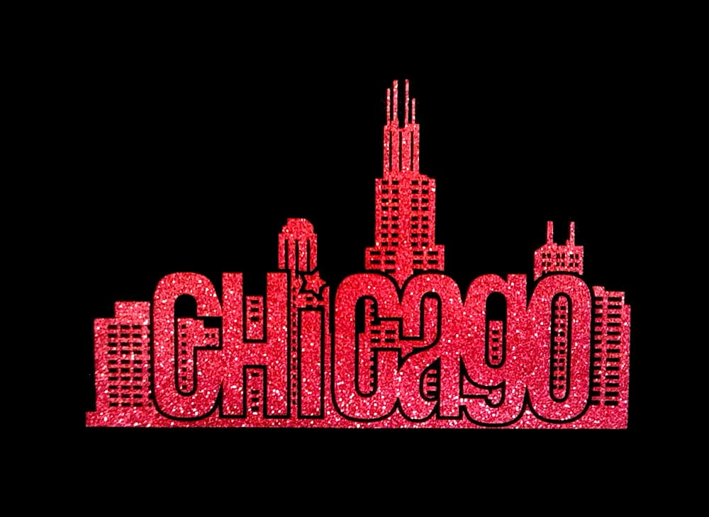 Image of Chicago PreCut HTV Glitter Design