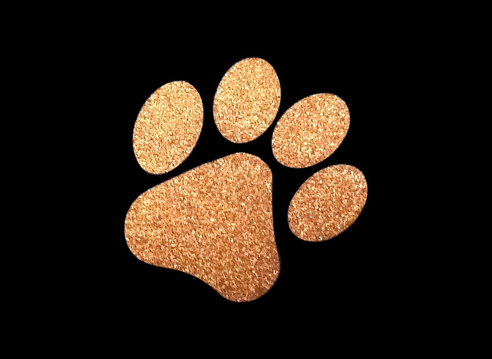 Image of Copper Paw HTV Glitter Design