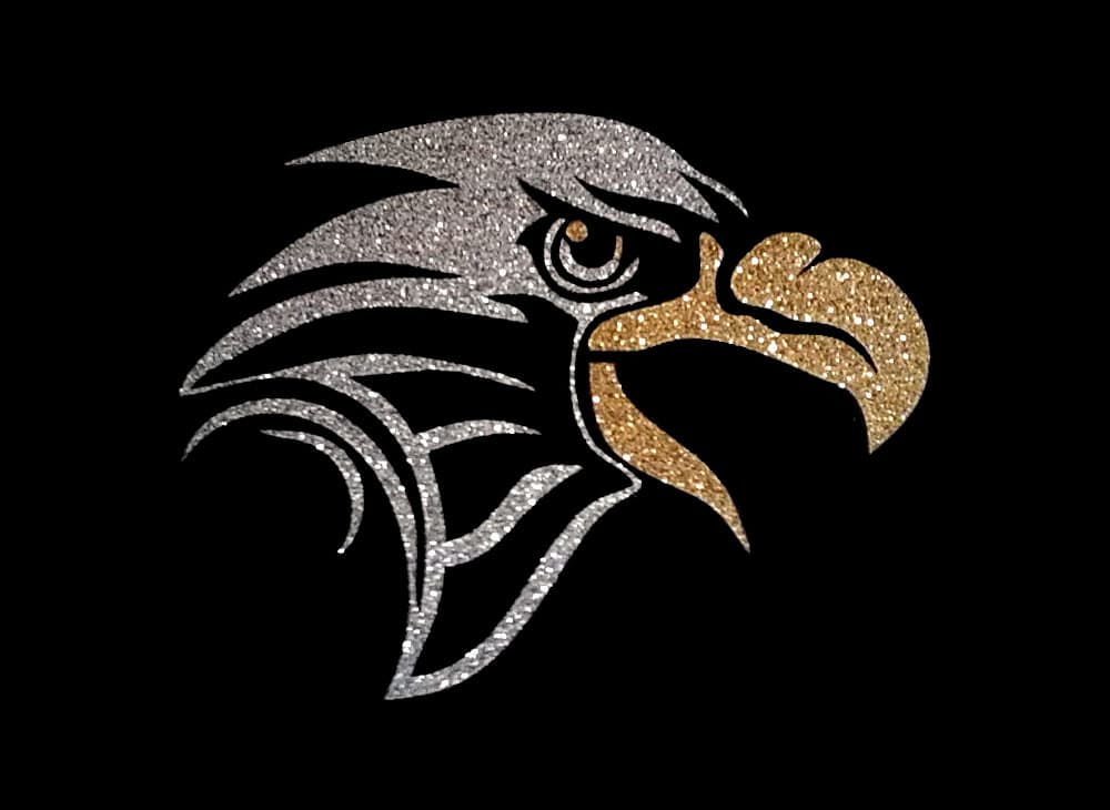 Image of Eagle PreCut HTV Glitter Design