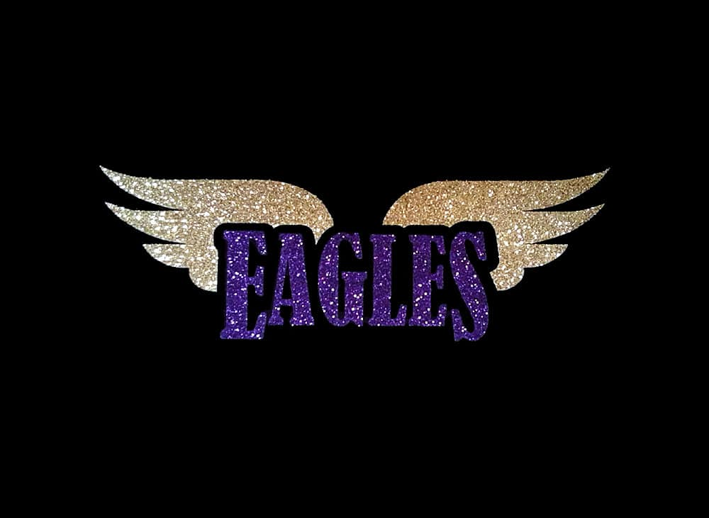 Image of Eagles with Wings PreCut HTV Glitter Design