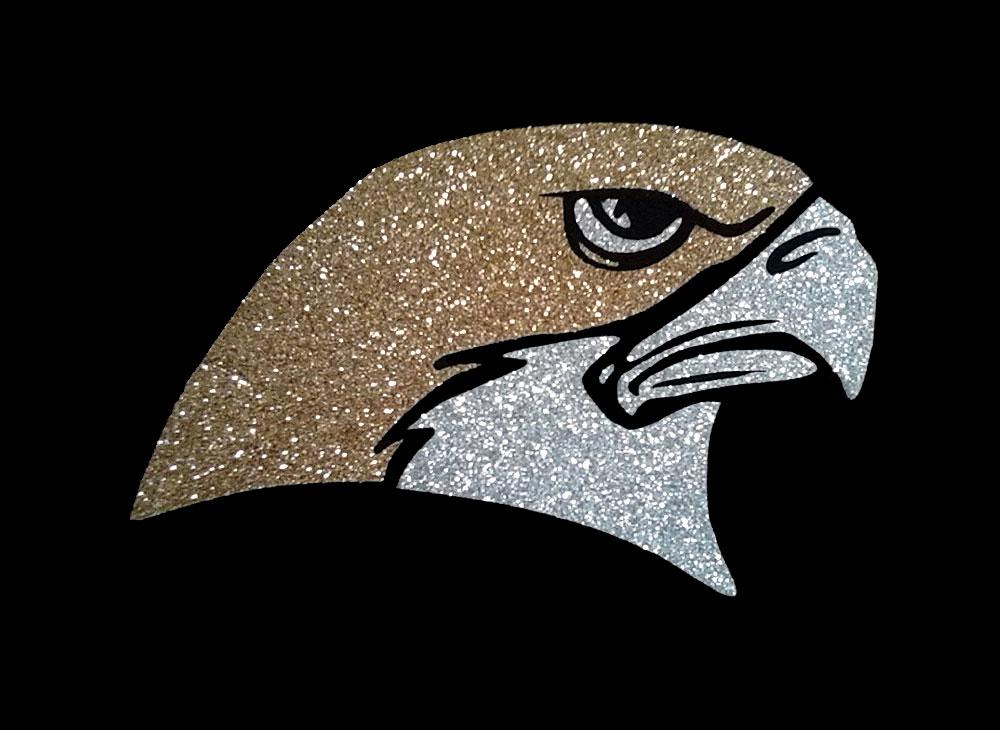 Image of Falcon PreCut HTV Glitter Design